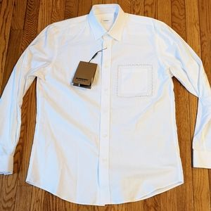 Burberry Lace Pocket Long Sleeve Sport Shirt